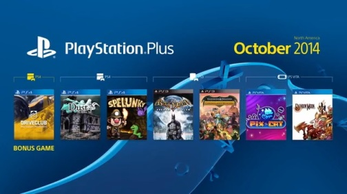 PS Plus NA October 2014